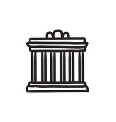 Acropolis of athens sketch icon vector