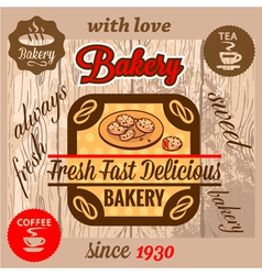 Bakery menu vector