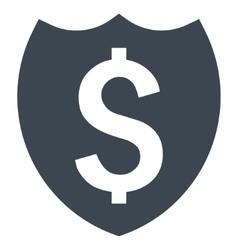 Bank insurance flat icon vector