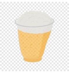 Beer in plastic cups vector