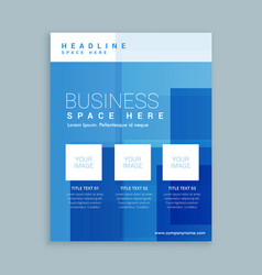 Business marketing flyer brochure template vector