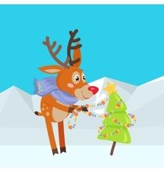 Christmas tree decoration cartoon vector