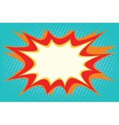 Comic book explosion bubble dynamic vector