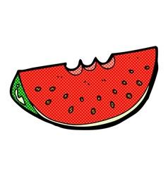 comic cartoon watermelon slice vector image vector image
