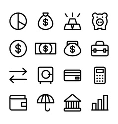 crisp finance icons vector image