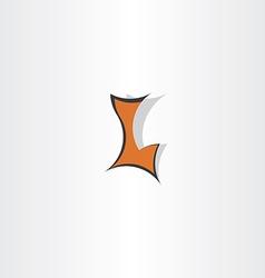dark orange letter l logo symbol vector image