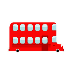 Double-decker cartoon style london bus isolated vector