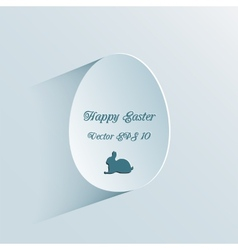 Easter background with egg vector image vector image