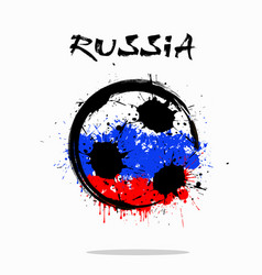 Flag of russia as an abstract soccer ball vector