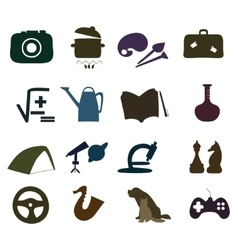 Hand drawn Hobby Icons set vector image