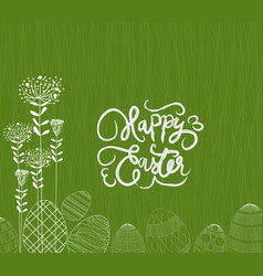 happy easter eggs ornament background vector image