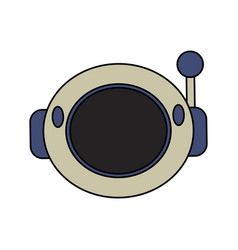Helmet astronaut space security vector
