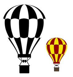 hot air balloon black symbol vector image vector image