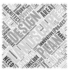 Landscape architects Word Cloud Concept vector image