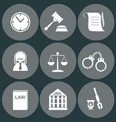 Law judge icon set justice sign vector