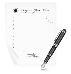 list blanc pen vector image