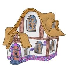 Little fairytale house vector
