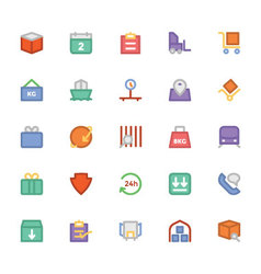 Logistics delivery colored icons 5 vector