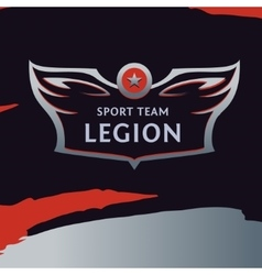 Logo template sport team wings of a bird vector