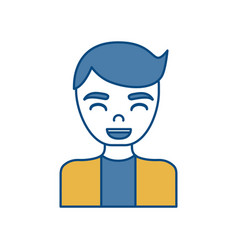 Man smiling icon vector