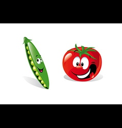 Pea and tomato vector