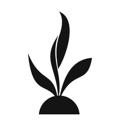 Plant seedling simple icon vector