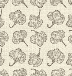 Seamless retro cotton background vector image