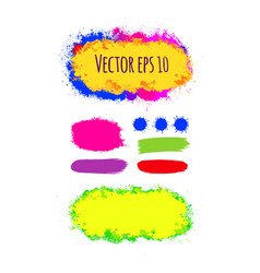 set of painted grunge banners bright colorful ink vector image