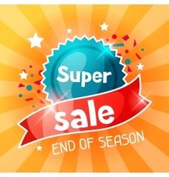 Super sale banner advertising flyer for commerce vector