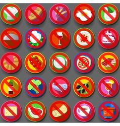 Twenty Five Circular Flat Icon Italian Food vector image vector image