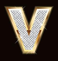 v bling bling vector image vector image