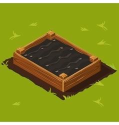 Vegetable garden wooden box set 13 vector