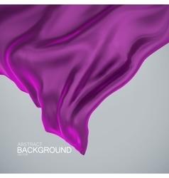 Violet silk fabric vector image vector image