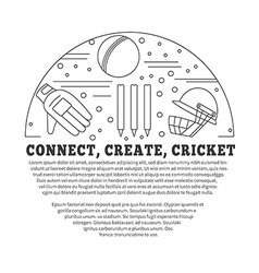 Cricket sport game graphic design concept vector