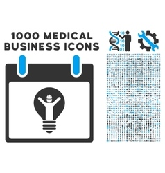 Electrician calendar day icon with 1000 medical vector