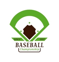 Baseball tournament professional badge vector