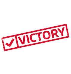 victory rubber stamp vector image