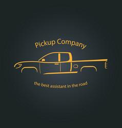 Pickup company car logo vector