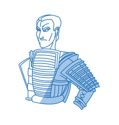 Japanese samurai cartoon hero warrior clothes vector