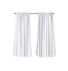 Blank curtains template vector