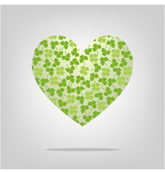 Heart with clover pattern vector