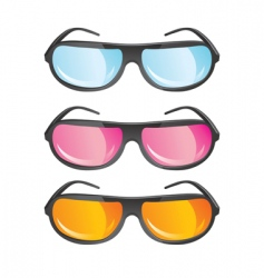 Glasses with colored lens vector