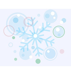 Abstract christmas snow flake and balls vector