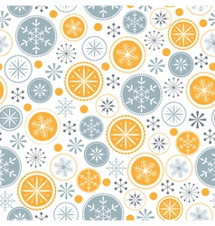 Snowflake pattern on white background vector