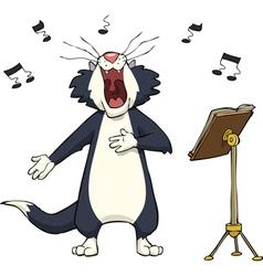 Singing cat vector