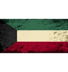 Kuwait flag grunge background vector