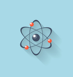 Flat web internet icon atomic model vector