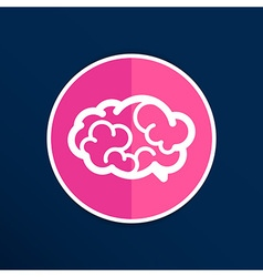 Brain icon mind medical brainstorm head human vector