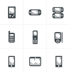 Phone game icons vector
