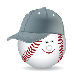 Ball in a baseball cap vector